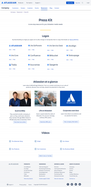 Atlassian - Media kit page 2