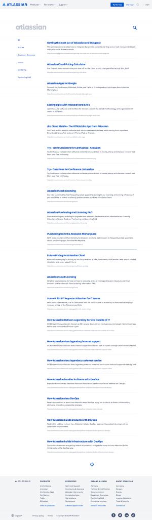 Atlassian - Search results page