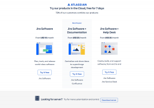 Atlassian - Sign up page