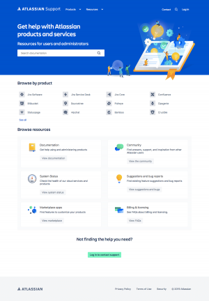 Atlassian - Support page