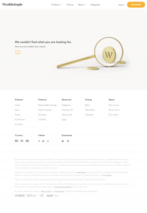 Wealthsimple - 404 Error page