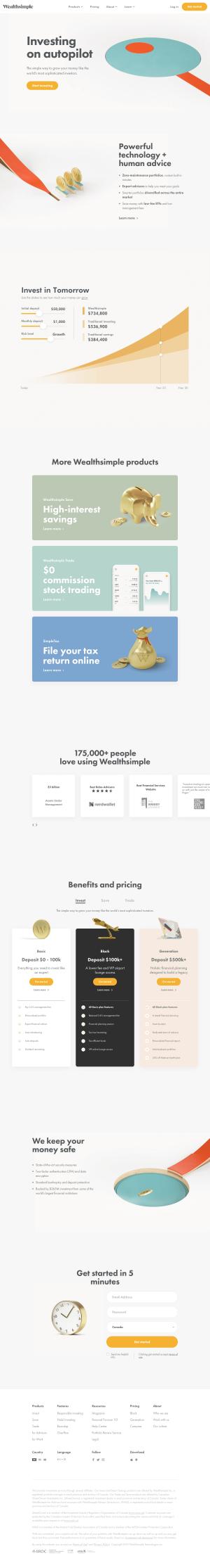 Wealthsimple - Homepage