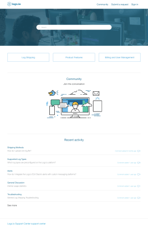 Logz.io - Support page