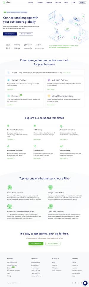 Plivo - Homepage