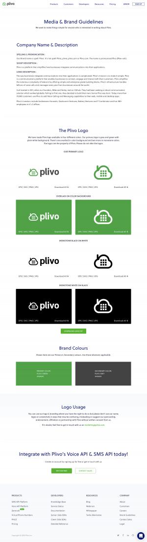 Plivo - Brand assets
