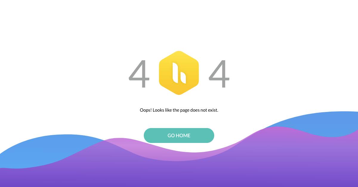 Hiver - 404 Error page