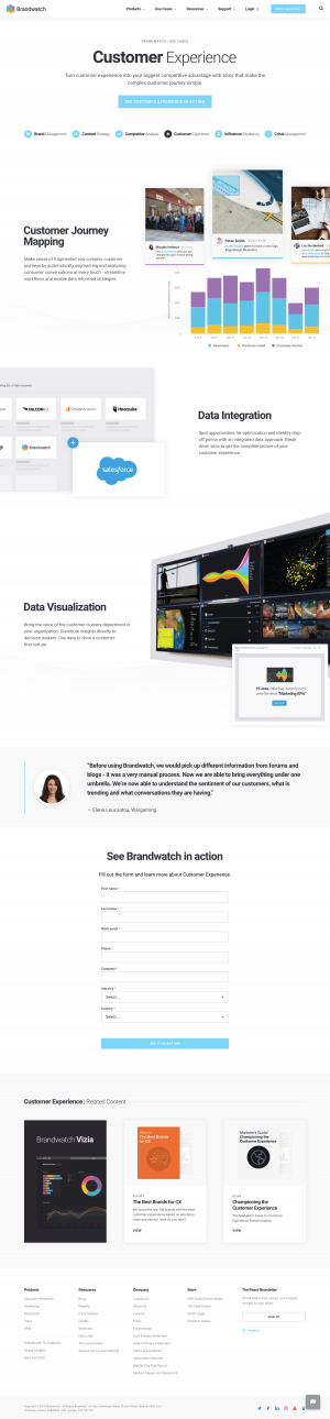 Brandwatch - Customers page