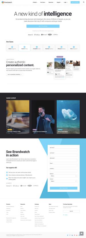Brandwatch - Homepage