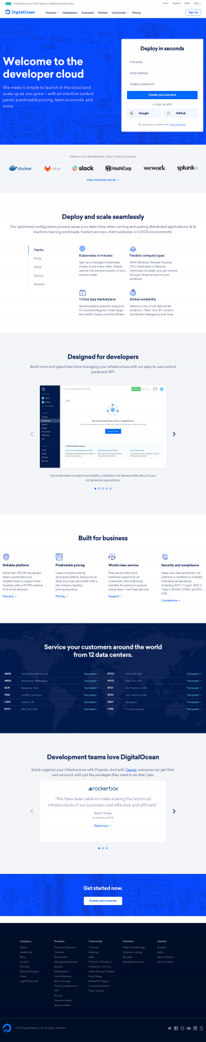 DigitalOcean - Homepage