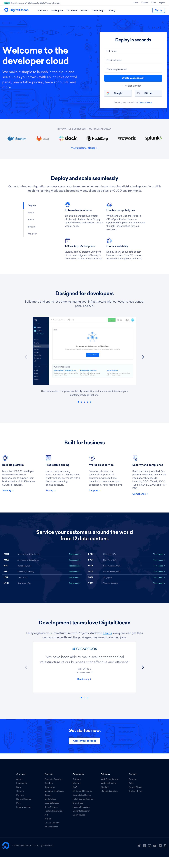 DigitalOcean - Homepage