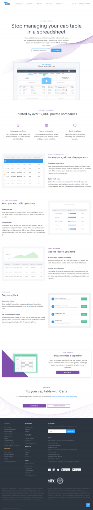 Carta - Features page