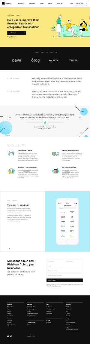 Plaid – Customers page 2