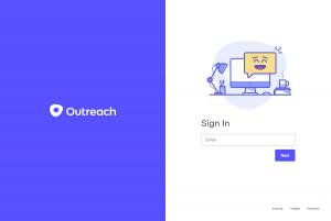 Outreach – Login page
