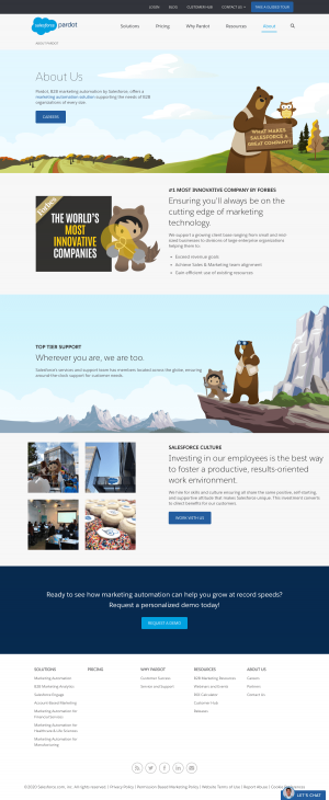 Pardot – About Us page