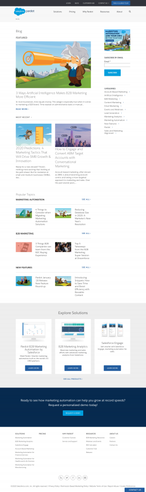 Pardot – Blog Index