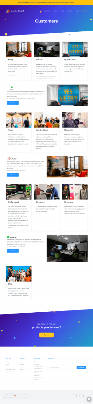 productboard – Customers page 1