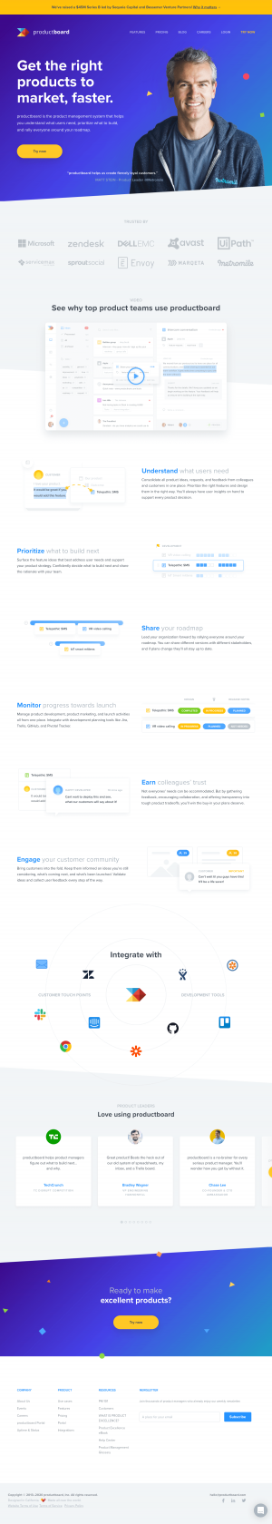 productboard – Homepage