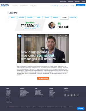 Zoom – Career page