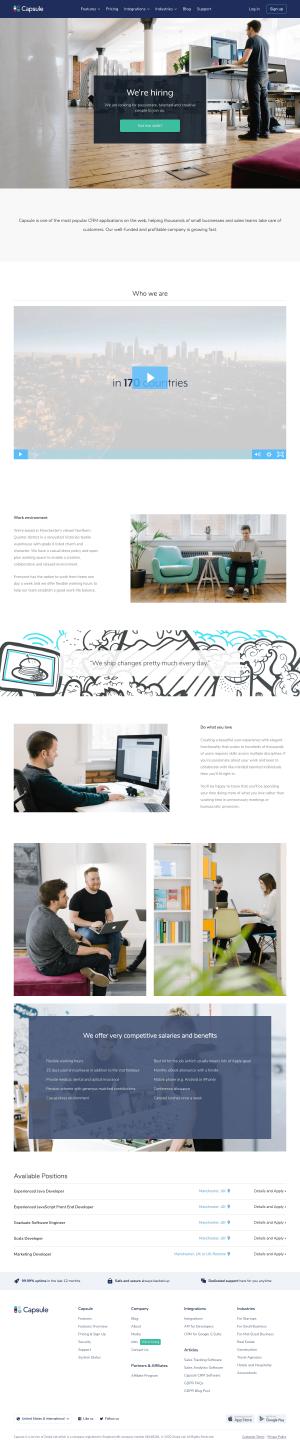 Capsule – Career page