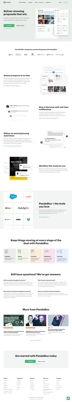 PandaDoc – Features page 2