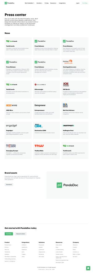 PandaDoc – Media kit page