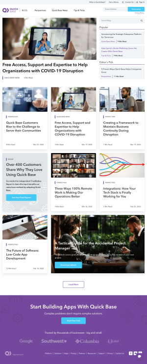 Quick Base – Blog Index