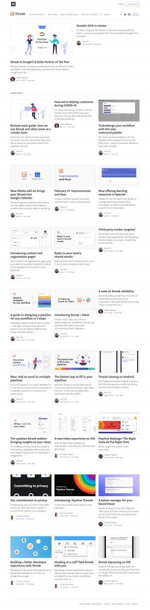Streak – Blog Index