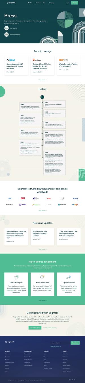 Segment – Media kit page