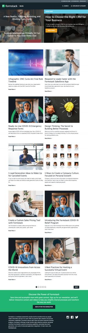 Formstack – Blog Index