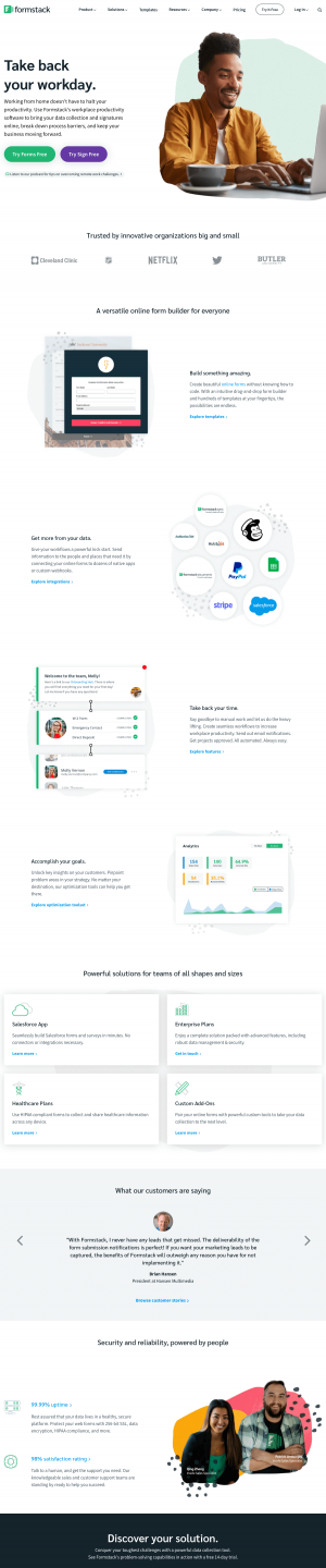 Formstack – Homepage
