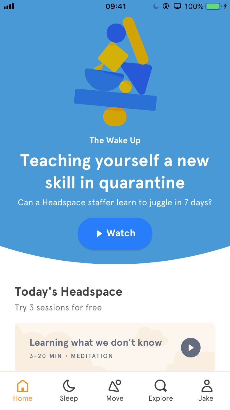 Starting course - App - Headspace