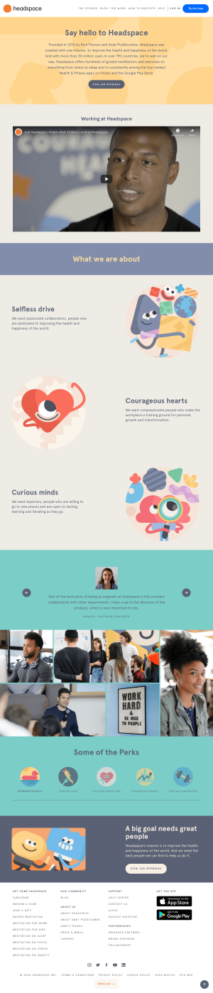 Headspace – Career page