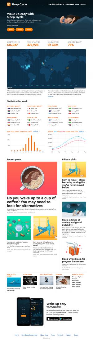 Sleep Cycle – Homepage