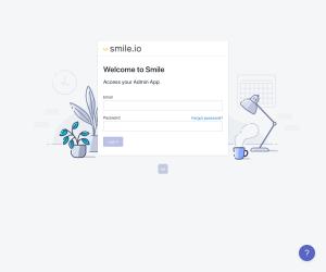 Smile.io – Login page