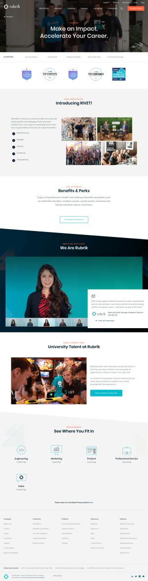 Rubrik – Career page