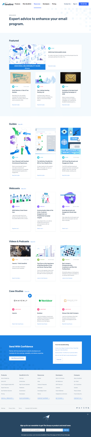 SendGrid – Resources page 1