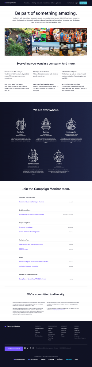 Campaign Monitor – Career page