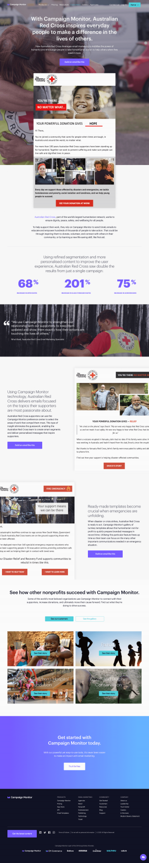 Campaign Monitor – Customers page 2