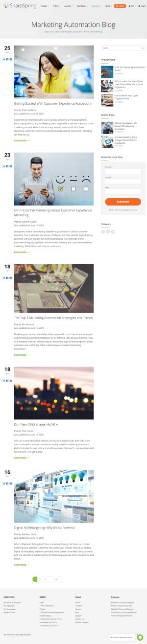 SharpSpring – Blog Index