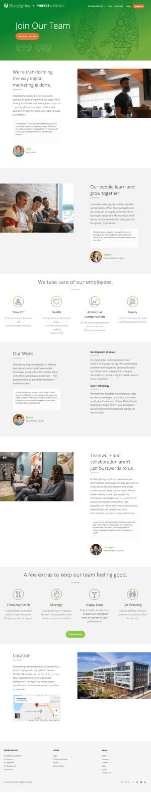 SharpSpring – Career page