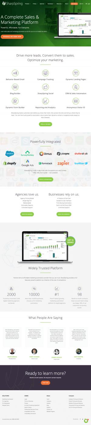 SharpSpring – Homepage