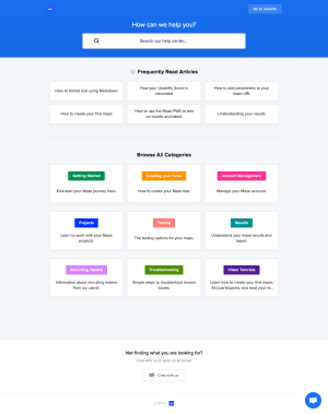 Maze – Support page