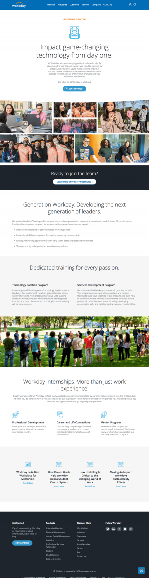 Workday – Career page 2