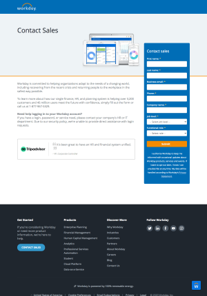 Workday – Contact page