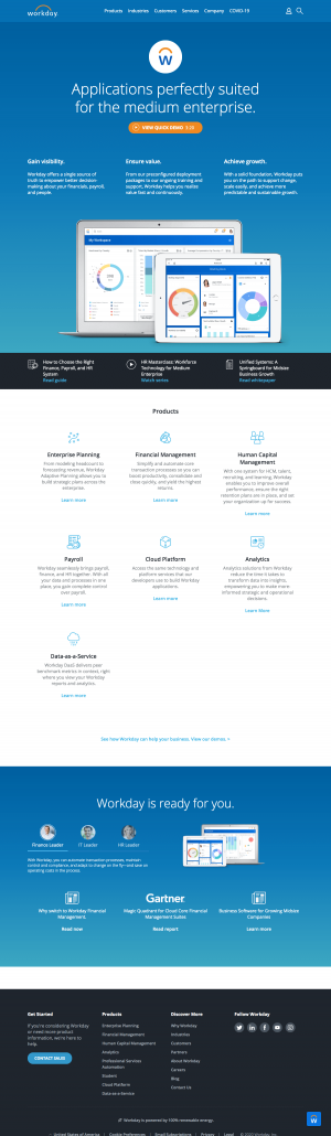 Workday – Features page 1