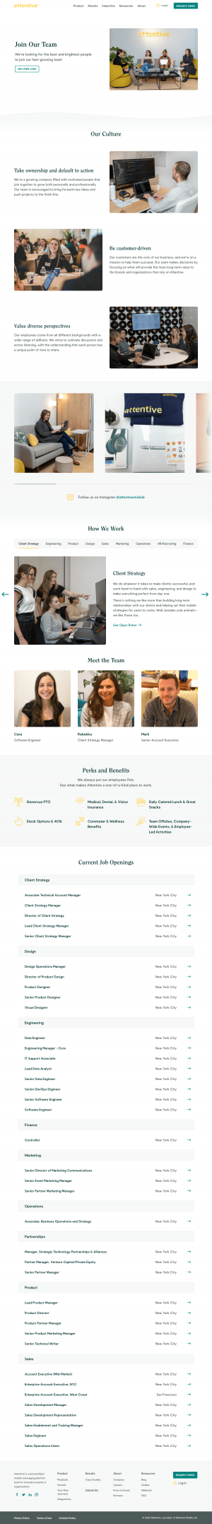 Attentive – Career page