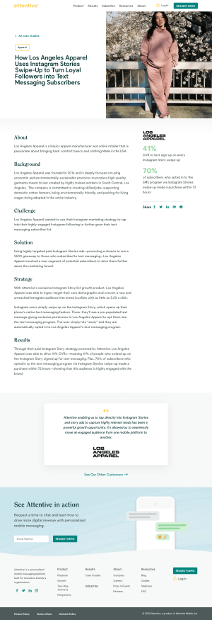 Attentive – Customers page 2
