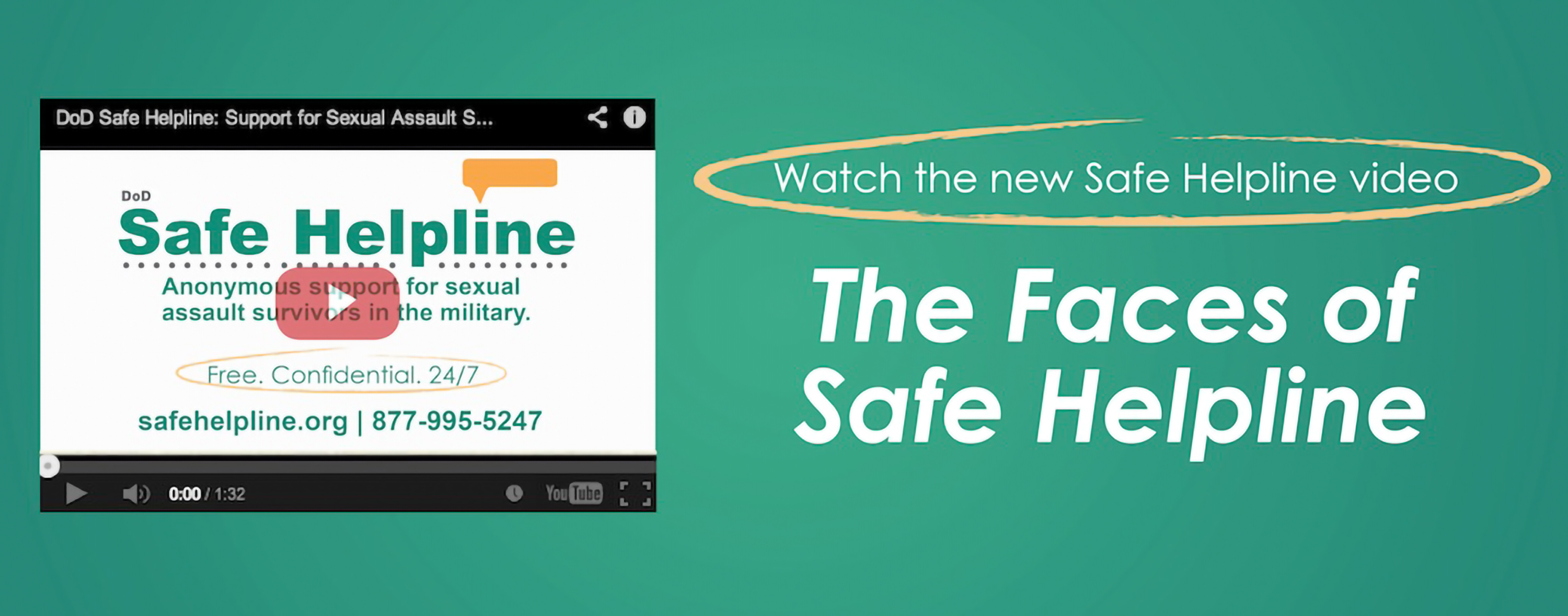 Watch the Safe Helpline Video