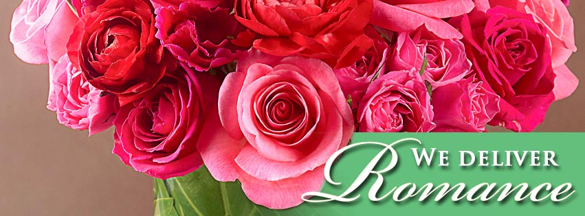 Facebook - Valentine's Day - Red roses - we deliver Romance - 851x315