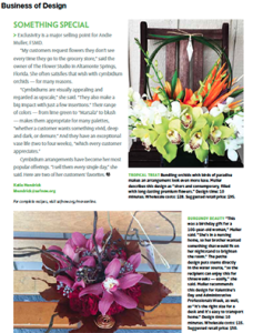 screenshot of the Business of Design column from Floral Managment magazine